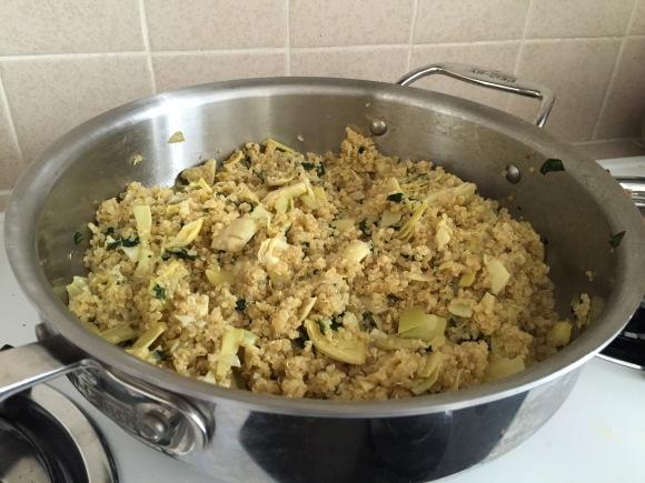 Spinach Artichoke Quinoa